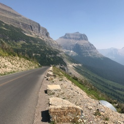 From the other side of Logan Pass.