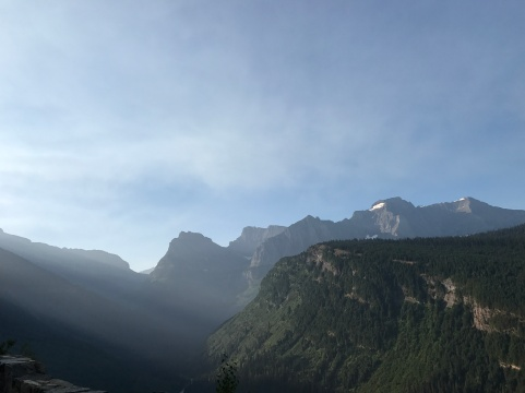 One of many spectacular views in Glacier National Park.