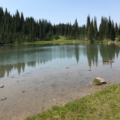 This large glacial puddle holds numerous fish, if local legends hold true.