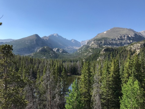 The trail to Emerald Lake in Rocky Mountain National Park