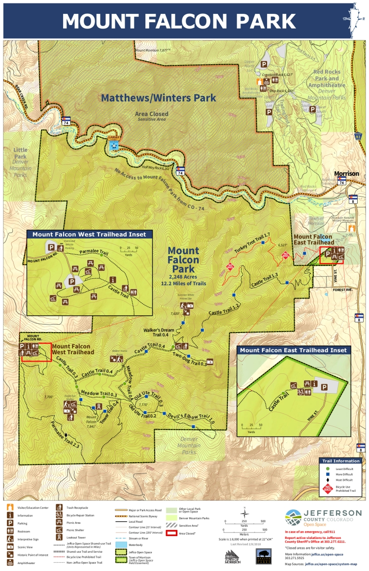 Mount Falcon Park Map