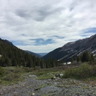 The hike takes you through a valley and up into a glacial basin.