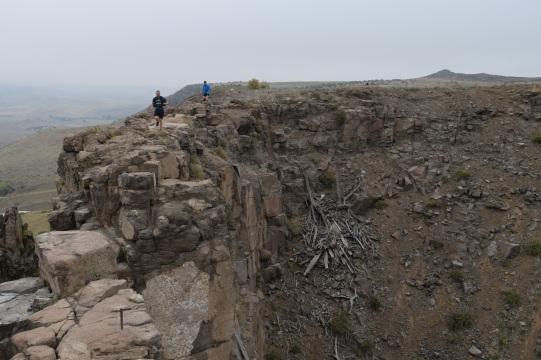 Trail running along a ridge