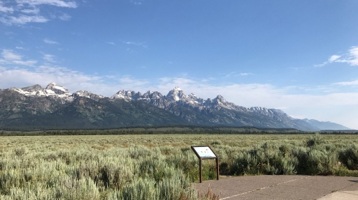 A view of the Tetons from inside Grand Teton National Park